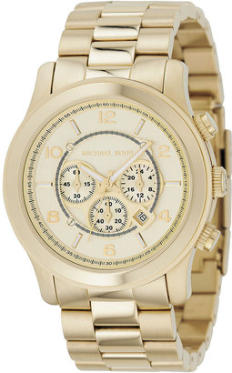 Michael Kors &#39;Goldtone Oversize Iconic&#39; Chronograph Watch - Gold Chronograph Watches 