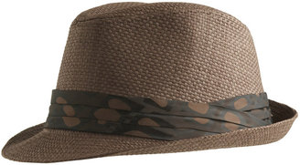 Satin Print Straw Fedora - Chic Summer Fedoras