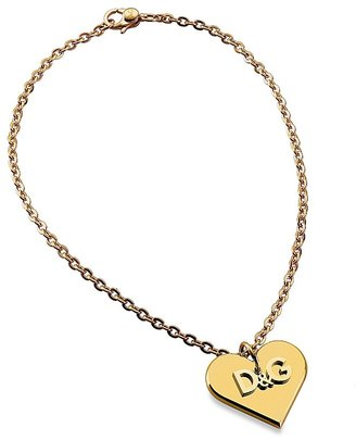 "D & G ""Calamity"" Logo Heart Pendant - Gold Pendant Necklaces"