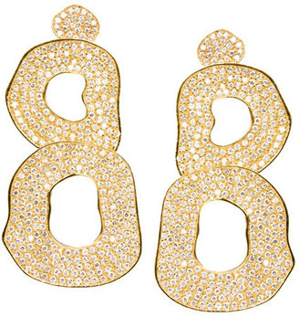 Melinda Maria Jane White Diamond Earrings - Melinda Maria