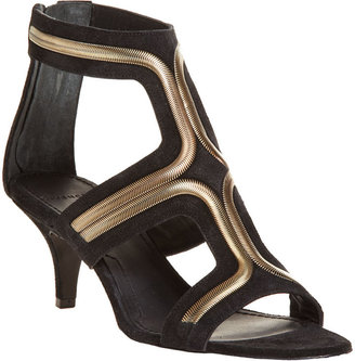 Givenchy Chain T-Strap Sandal - Black/Gold - Heels
