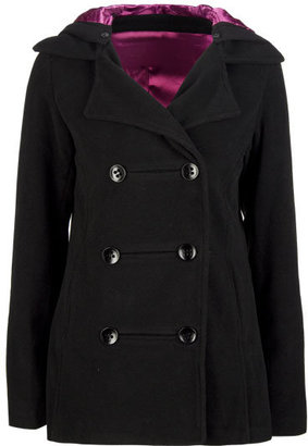 LOST Beatrice Womens Hooded Peacoat - The Jackie O Jacket
