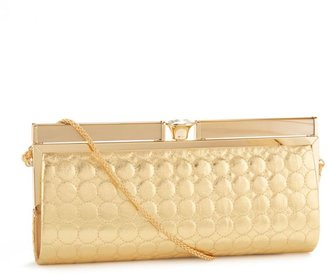 Kate landry quilted circle bar-frame clutch - Kate Landry