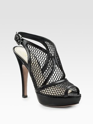 Prada Mesh Slingback Sandals - Slingbacks
