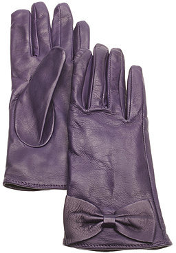 Searle, Cashmere lined leather glove with bow - Searle
