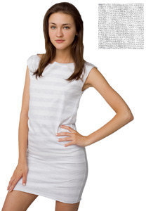 Fine Jersey Stripe T Dress - American Apparel