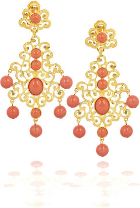 Kenneth Jay Lane 22-karat gold-plated chandelier earrings - Dangle Earrings