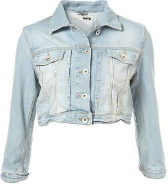 Super Bleach Denim Crop Jacket - Topshop
