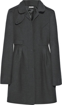 Miu Miu Funnel-neck wool coat - Dress Like Jenny Humphrey