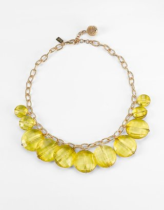 Kate Spade new york 12K Gold-Plated Citrine Beaded Necklace - Statement Necklace