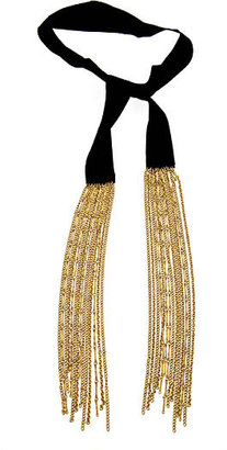 Ben-Amun Ribbon and Tassel Lariat Necklace - Gold Lariat Necklace