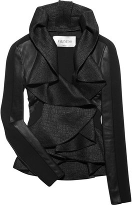 Valentino Leather and tweed ruffled jacket - Rebecca Minkoff&#39;s Easy Style