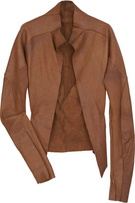 Bess Sioux raw-edge leather jacket - Net-A-Porter