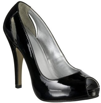 Women&#39;s Mossimo Vida Peep-Toe Pumps - Black Patent - Shoes