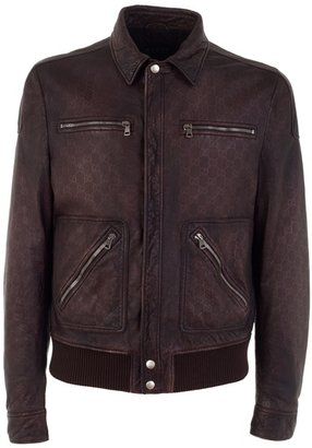 GUCCI - Worn leather jacket - Gucci