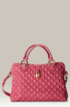 MARC JACOBS &#39;Rio&#39; Snakeskin Embossed Satchel - Quilted Leather Bag
