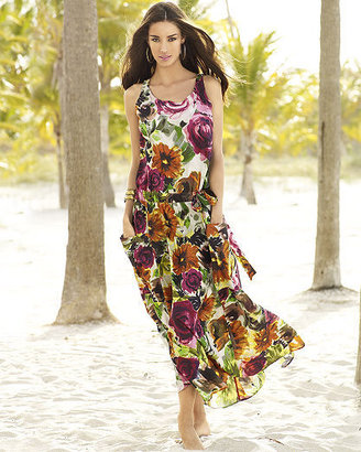 Floral-print dropwaist dress - Clothes