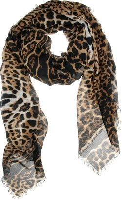 Yves Saint Laurent Leopard Print Scarf - Fall is Purring for Leopard Print Accessories