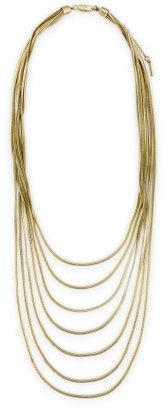 Layered Snake Chain Necklace - Gilded Gold Chains