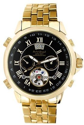 Croton andre giroud stainless steel gold-tone automatic skeleton watch - Incredibly Gold Watches for Men