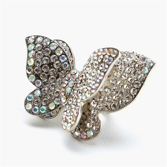 Ccc Large Layered Butterfly Ring - Butterfly Ring