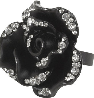 Large Flower Ring - Bold Black Jewels