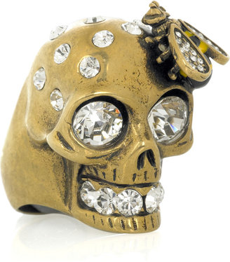 Alexander McQueen Swarovski crystal-embellished skull ring - Alexander McQueen