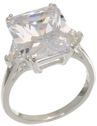 Sterling silver clear cubic zirconia cocktail ring - Decorative Rings