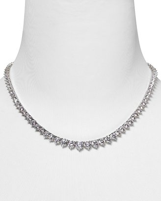 Crislu Round Graduated Tennis Necklace, 16&quot;L - Diamond Tennis Necklace