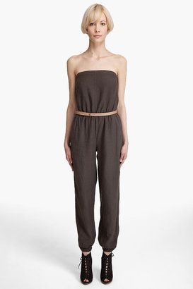 Graham &amp; spencer Linen Jumpsuit - Lindsay Lohan Jailbird Chic