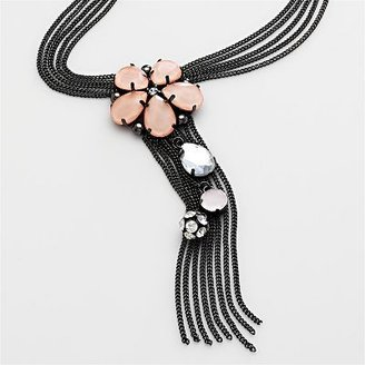 Simply vera vera wang jet-tone floral y necklace - Vera Wang