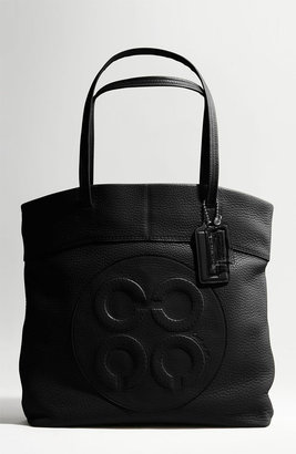 Coach Julia Leather Op Art Perry Tote - Coach