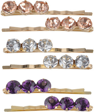Triple Jewel Bobby Pins - Hair Pin