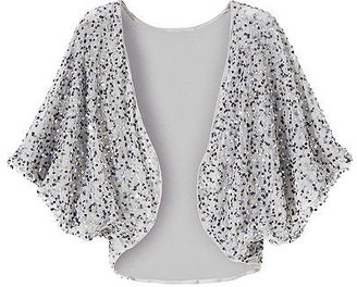 Cropped knit shrug with sequins - Sassy Shrug Sweaters