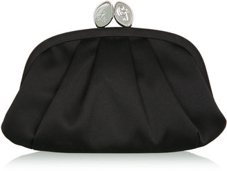 Lulu Guinness Black Satin Amelie Clutch - Handbags