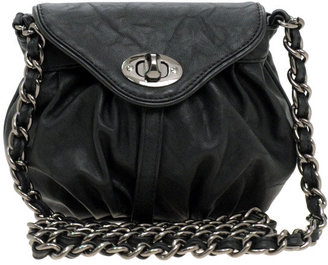Warehouse Chunky Chain Twist Lock Across Body Bag - Get This Look-Jessica Alba