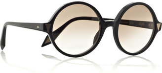 Victoria Beckham Round-frame acetate sunglasses - Dress Like Mary-Kate Olsen