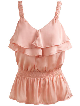 Smocked Waist Ruffle Top - Peach Perfection