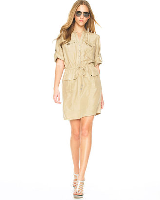 MICHAEL Michael Kors Drawstring-Waist Shirt Dress - Michael Kors Spring 2010