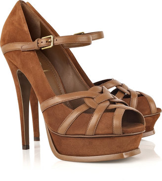 Yves Saint Laurent Tribute suede sandals - Platform Sandals
