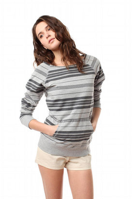 Truly Madly Deeply Ticking Stripe Sweatshirt - Sweatshirt
