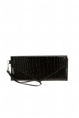 Deena &amp; Ozzy Metallic Reptile Envelope Clutch - Urban Outfitters