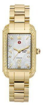 Michele Milou Park Diamond 3-Link Ladies' Watch MWW15C000008 - Watches