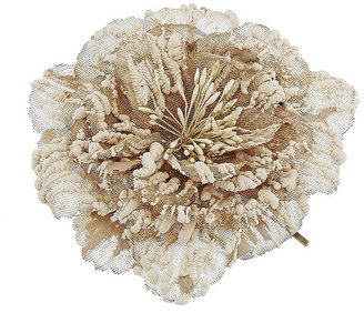 Textured Flower Clip - Hair Pin