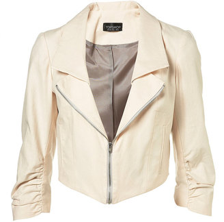 Zip Lapel Crop Blazer - Cropped Jacket