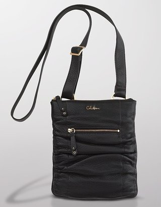Cole Haan Bailey Ruched Leather Cross-Body Bag - Shoulder Bags
