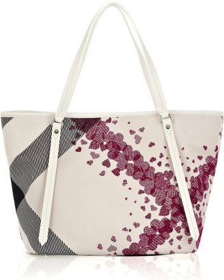 Burberry Heart-print canvas tote - Printed Leather Handbags