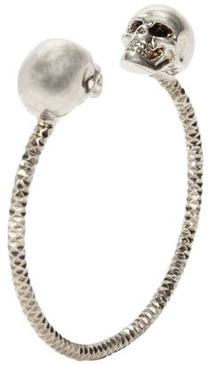 Antique Silver Twin Skull Bangle - Selita Ebanks&#39; Designer Faves