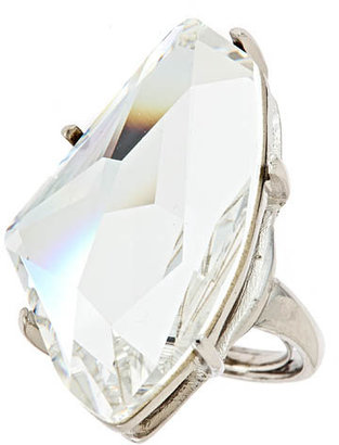 Kenneth Jay Lane Large Crystal Ring - Decorative Rings