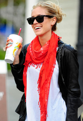 Nepali Bambi Bobi Scarf in Red - as seen on Kristin Cavallari - Singer22